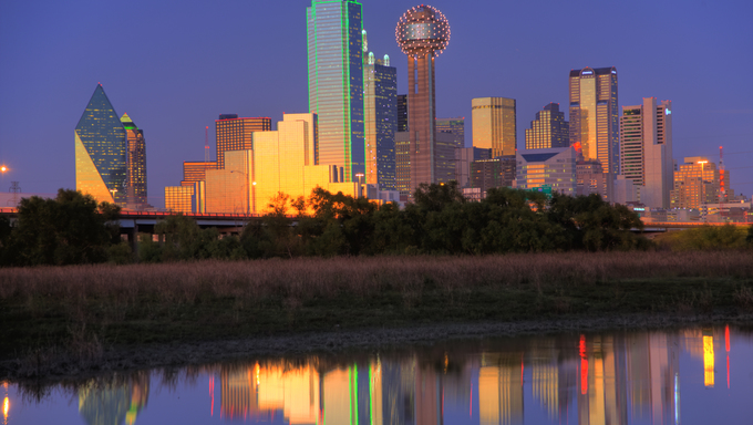 Dallas, with a population of 1,279,910, is the third-largest city in Texas and the 8th-largest in the United States. The city is the main economic center of the