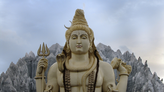 Statue of Lord Shiva near Kempfort, bangalore