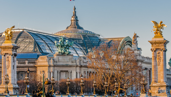 The Grand Palais museum and Pont Alexandre III.