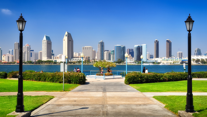 View of San Diego.
