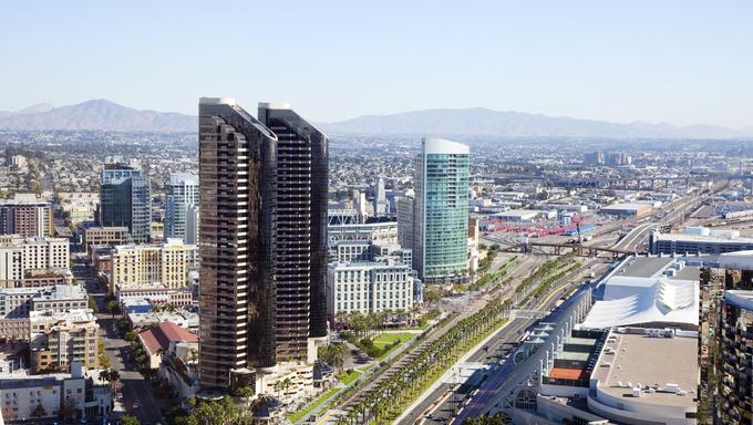 San Diego Downtown skyview.