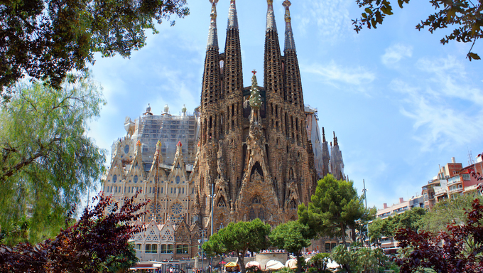 La Sagrada Familia in Barcelona, Spain.