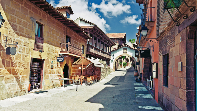 Poble Espanyol (traditional architectural complex) in Barcelona, Spain.