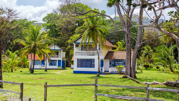House on the Caribbean coast.