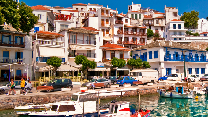 A beautiful town in Greece.