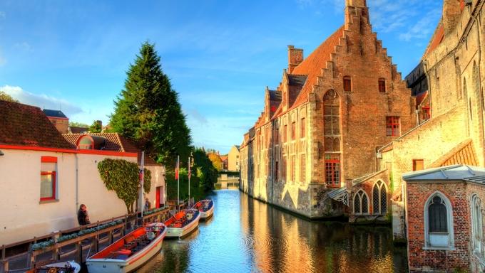 Autumn in Bruges, Belgium.