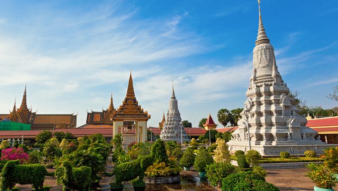 Royal Palace in Phnom Penh, Cambodia.