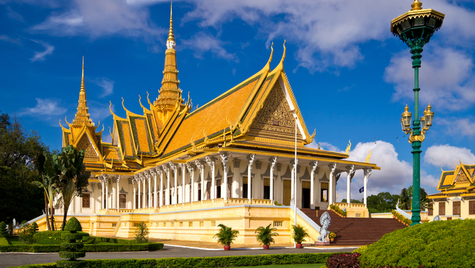 The royal palace in Cambodias capital Phnom Penh.