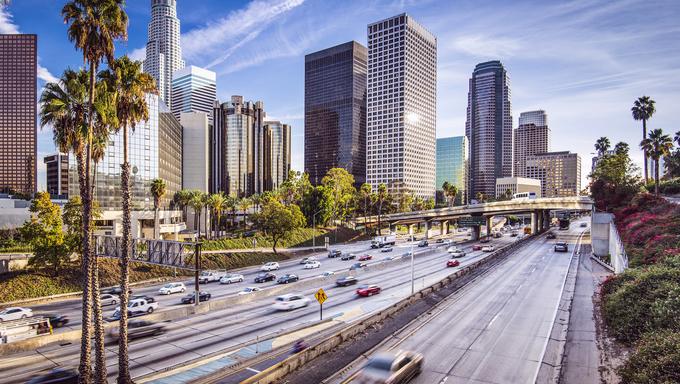 Los Angeles, California, USA downtown cityscape.