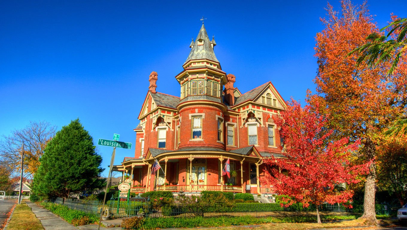 The Mansion was completed in 1888 in Little Rock, Arkansas at the exorbitant cost of $20,000 and used exclusively Arkansas materials. Designed by Max Orlopp and Kasper Kusener, it has been described in the National register of Historic Places as the best example of ornate Victorian Architecture in Arkansas and the most important existing example of Gothic Queen Anne style regionally.