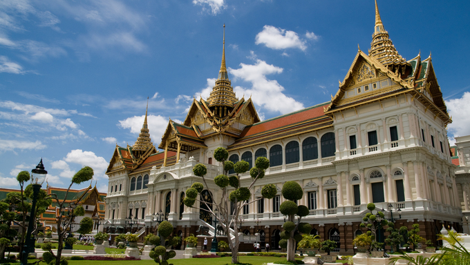 Grand palace, the major tourism attraction in Bangkok, Thailand