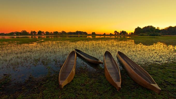 Boats near Gaborone, Botswana.