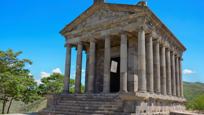Ancient Garni temple complex. Armenia.