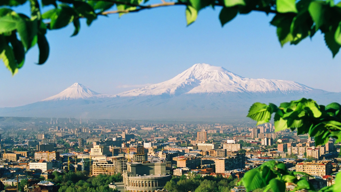Mountain Ararat,city Yerevan,Armenia.