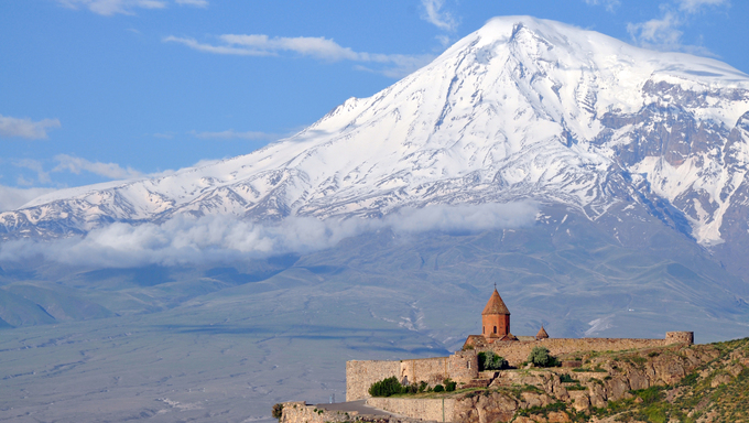 Khor Virap monastery in Armenia
