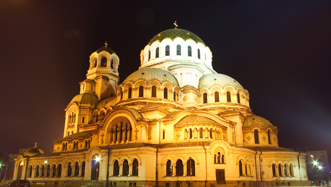 Aleksander Nevsky Cathedral in Sofia, Bulgaria. This Cathedral is  one of the symbols of this charming country.