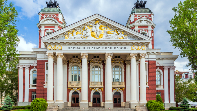 National theater Ivan Vazov, Sofia, Bulgaria.