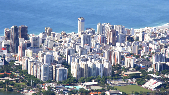 The city of Rio de Janeiro. View from the Corcovado.