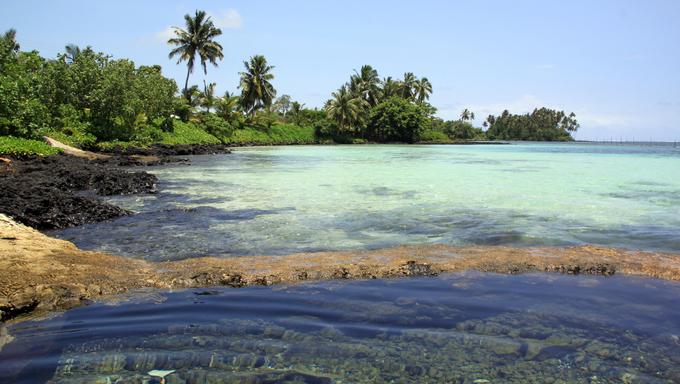 On the beach in Upolu island, Samoa