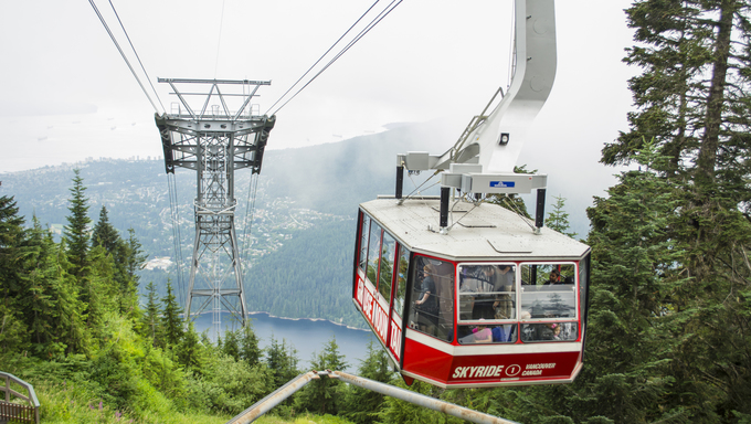 The Grouse Mountain Skyride.