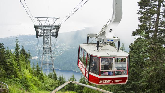 The Grouse Mountain Skyride.