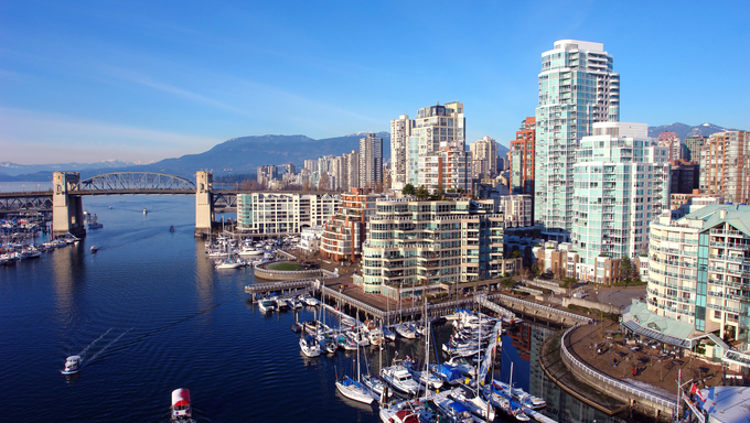 Scenic Vancouver Harbour.