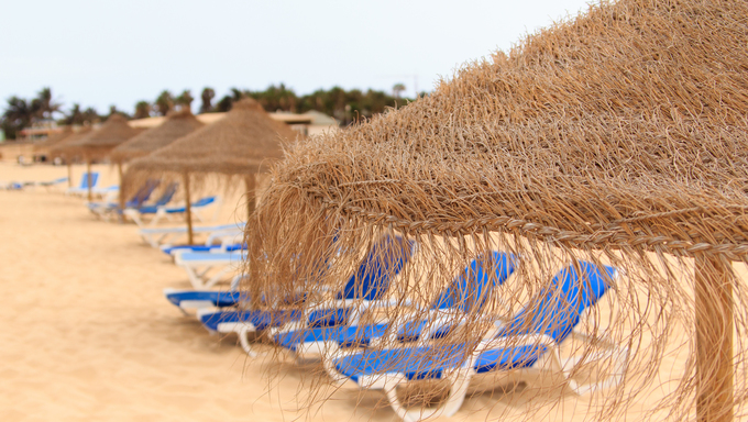 palapa sun roof beach umbrella in cape verde sal