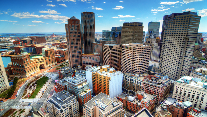 Buildings in downtown Boston, Massachusetts.