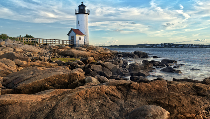 Annisquam lighthouse located near Gloucester, Massachusetts.
