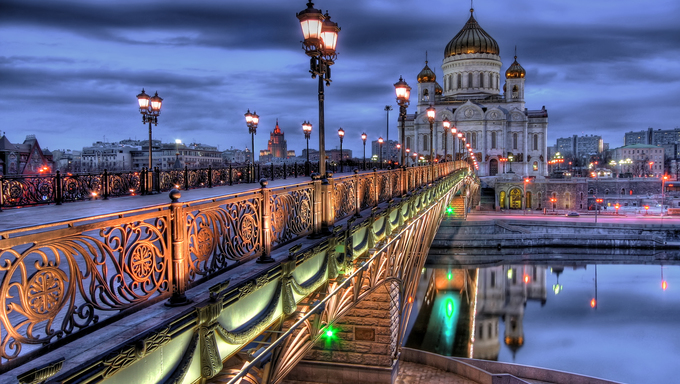 Cathedral of Christ the Saviour church in Moscow, Russia.