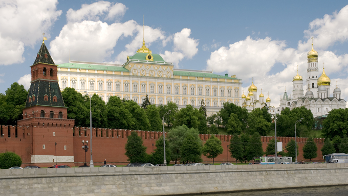 Russia, Moscow Kremlin close up.