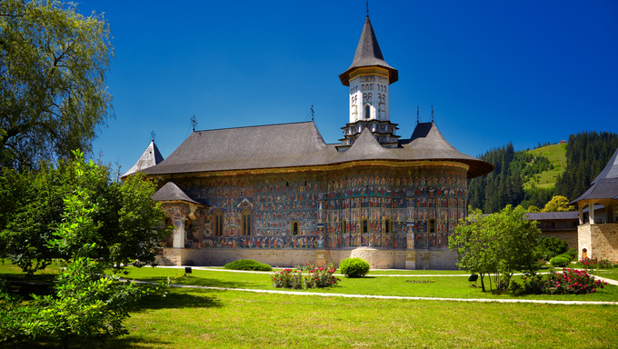 Sucevita painted monastery in Romania. It is a UNESCO World Heritage site.