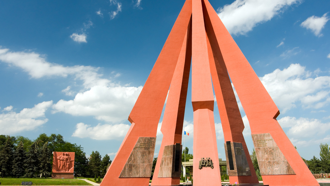 Memorial in honour of the Victory in Second World War. Chisinau, Moldova.