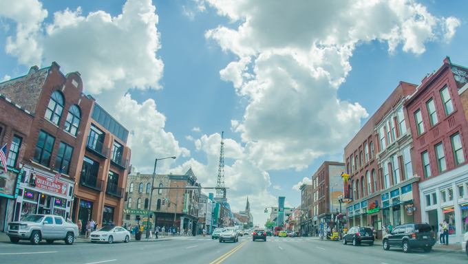 Nashville, Tennessee downtown.
