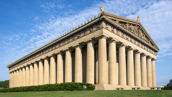 Parthenon Replica at Centennial Park in Nashville, Tennessee.