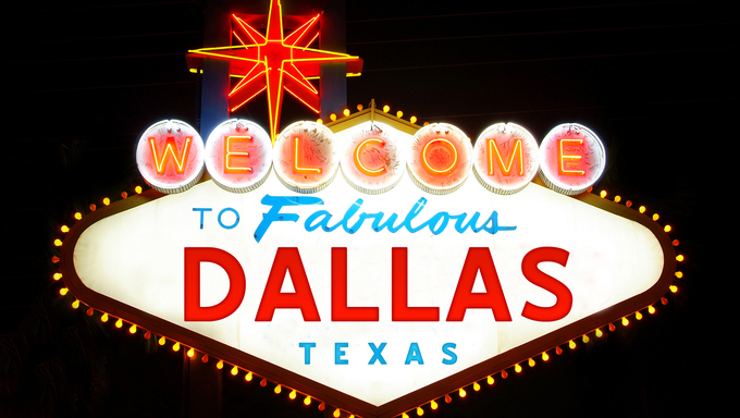 The famous Welcome to Dallas sign.