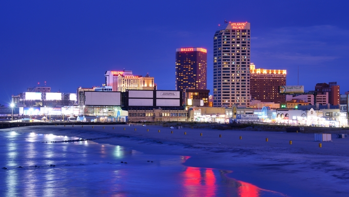 The coast of New Jersey and Atlantic City.