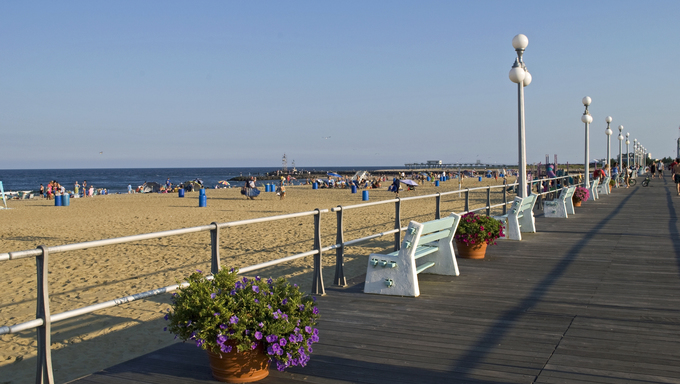 A boardwalk view.