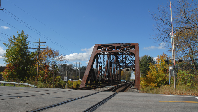Railroad trestle, Rochester, New York.