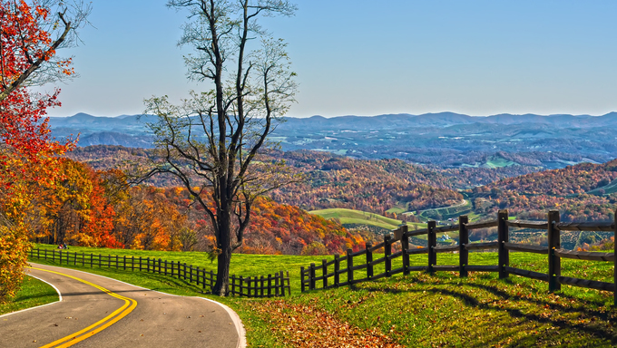 Blue Ridge Parkway, Virginia.