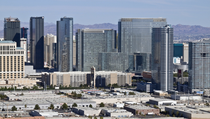Las Vegas, Nevada, USA - September, 12th 2010: Newly opened mega development City Center dramatically modernizes the skyline.