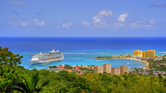 An ariel view of Ocho Rios.