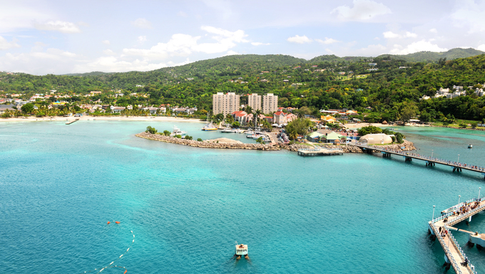 Ocho Rios in Jamaica during a bright day.