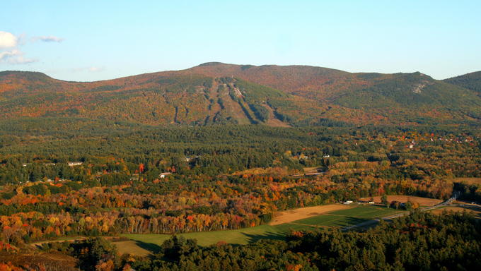 Autumn view in the White Mountains of New Hampshire.
