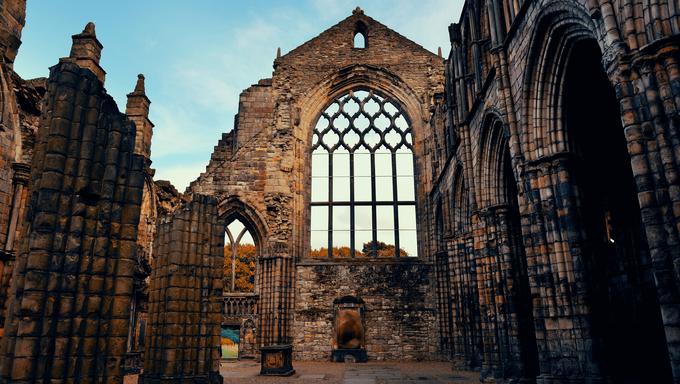 Holyrood Abbey in Edinburgh United Kingdom.