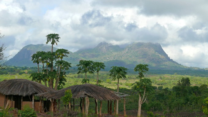 The Beautiful mountain landscape of Mozambique.