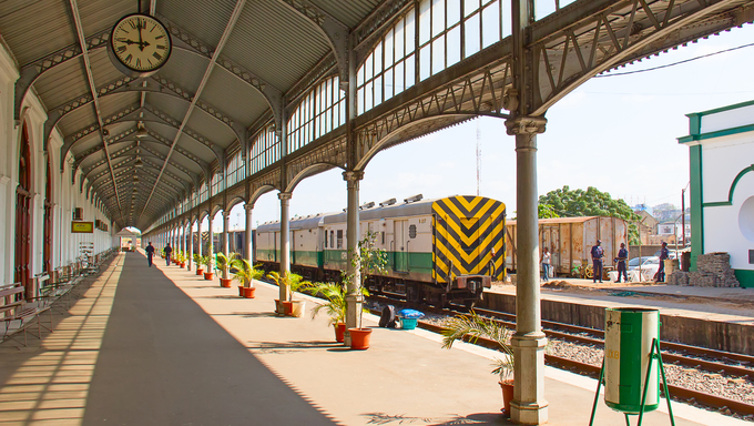 The main railway and bus station of Maputo.