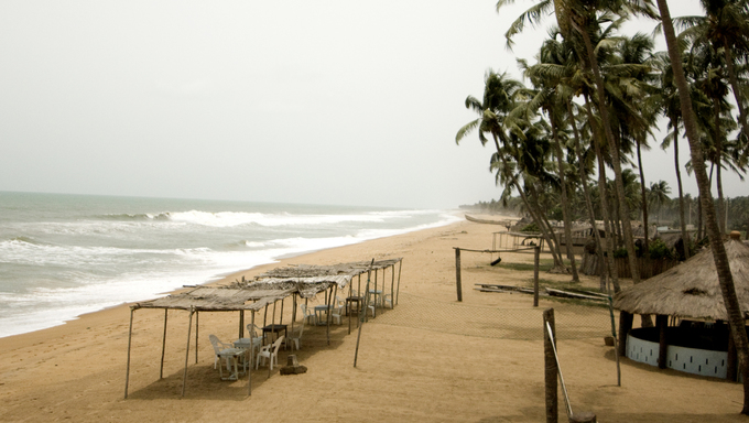 View of the beach in Benin.