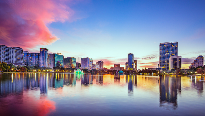 Skyline of Orlando, Florida.