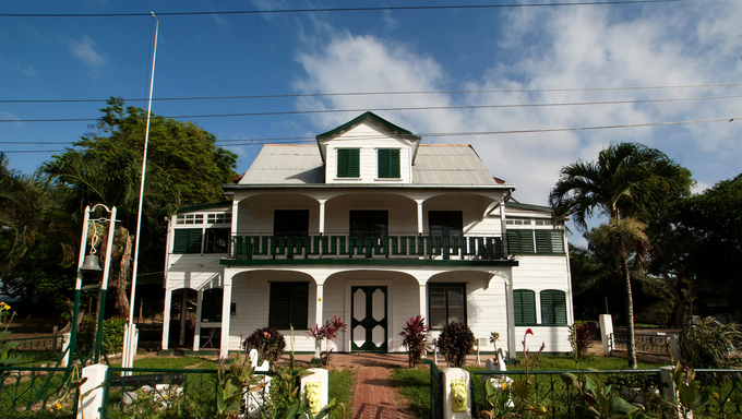 Dutch colonial mansion in NIeuw-Amsterdam - Surinam, South America